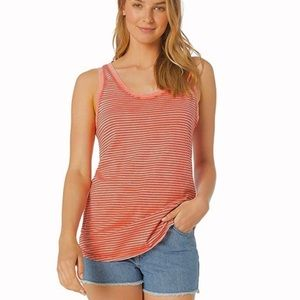 AG striped coral Cambria scoop neck tank top
